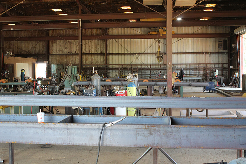 Custom Steel Fabrication Project in our Winnsboro, Texas Fab Shop