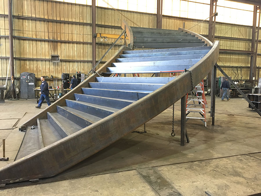 Custom Stairs Fabrication Project